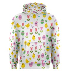 Easter - chick and tulips Men s Pullover Hoodie