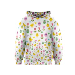 Easter - chick and tulips Kids  Pullover Hoodie