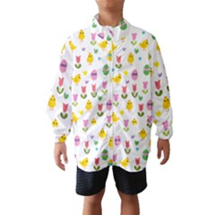 Easter - chick and tulips Wind Breaker (Kids)