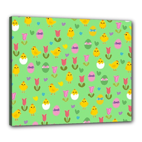 Easter - chick and tulips Canvas 24  x 20