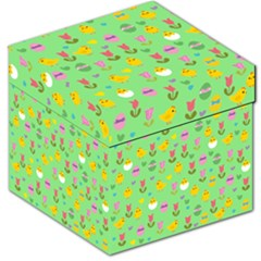 Easter - chick and tulips Storage Stool 12