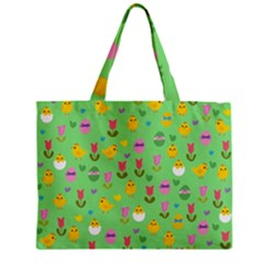 Easter - chick and tulips Mini Tote Bag
