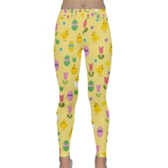 Easter - chick and tulips Classic Yoga Leggings
