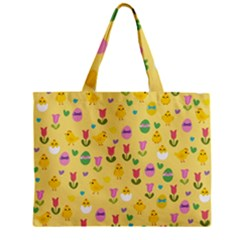 Easter - chick and tulips Zipper Mini Tote Bag