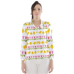 Easter - chick and tulips Wind Breaker (Women)