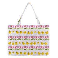 Easter - chick and tulips Medium Tote Bag