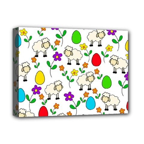 Easter lamb Deluxe Canvas 16  x 12