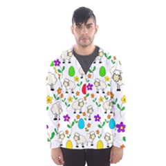 Easter lamb Hooded Wind Breaker (Men)