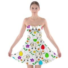 Easter lamb Strapless Bra Top Dress