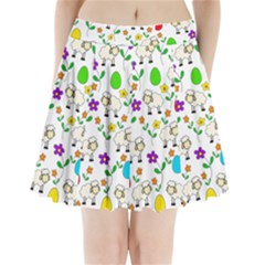 Easter lamb Pleated Mini Skirt