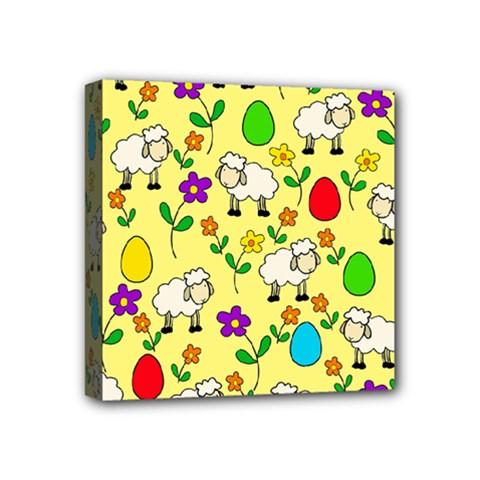 Easter lamb Mini Canvas 4  x 4