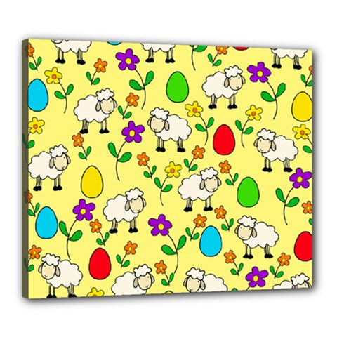 Easter lamb Canvas 24  x 20