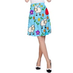 Easter lamb A-Line Skirt