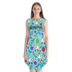 Easter lamb Sleeveless Chiffon Dress