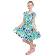 Easter lamb Kids  Short Sleeve Dress