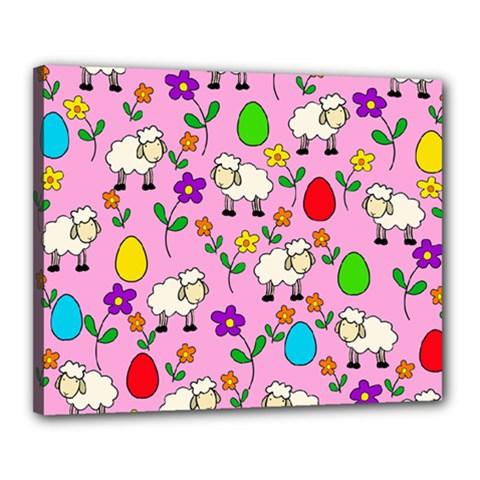 Easter lamb Canvas 20  x 16