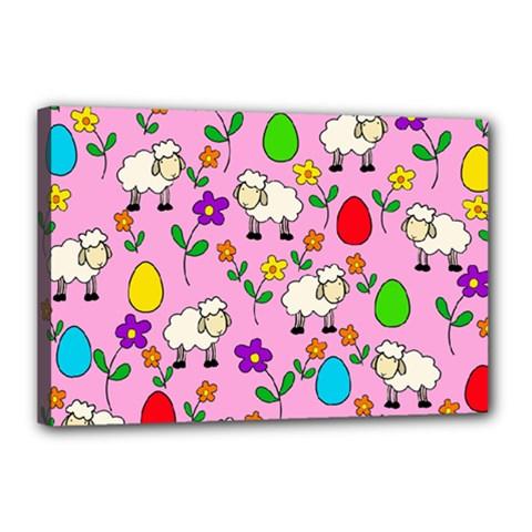 Easter lamb Canvas 18  x 12