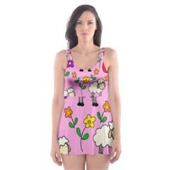 Easter lamb Skater Dress Swimsuit