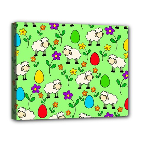 Easter lamb Deluxe Canvas 20  x 16