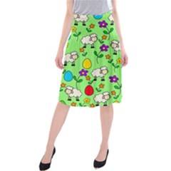 Easter lamb Midi Beach Skirt