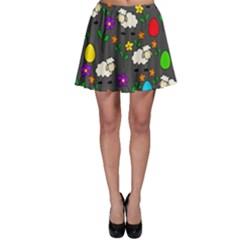 Easter lamb Skater Skirt