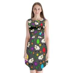 Easter lamb Sleeveless Chiffon Dress