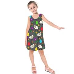 Easter lamb Kids  Sleeveless Dress
