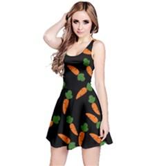 Carrot pattern Reversible Sleeveless Dress