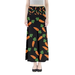 Carrot pattern Maxi Skirts