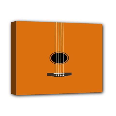 Minimalism Art Simple Guitar Deluxe Canvas 14  x 11