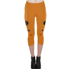Minimalism Art Simple Guitar Capri Leggings