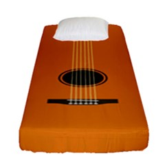 Minimalism Art Simple Guitar Fitted Sheet (single Size)