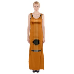 Minimalism Art Simple Guitar Maxi Thigh Split Dress