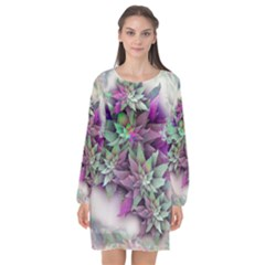 Unicornstyle  Blossom Annabellerockz Long Sleeve Chiffon Shift Dress