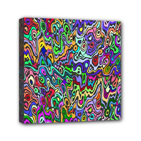 Colorful Abstract Paint Rainbow Mini Canvas 6  x 6