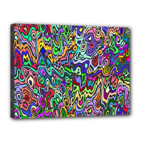 Colorful Abstract Paint Rainbow Canvas 16  x 12