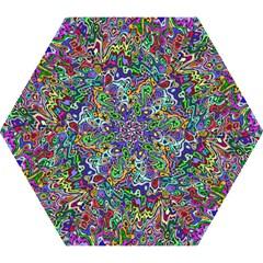 Colorful Abstract Paint Rainbow Mini Folding Umbrellas
