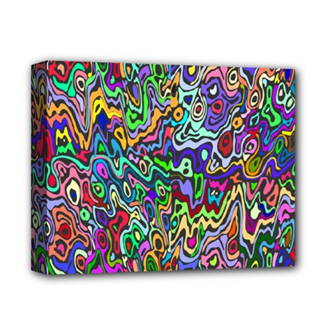Colorful Abstract Paint Rainbow Deluxe Canvas 14  x 11