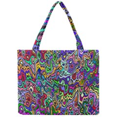 Colorful Abstract Paint Rainbow Mini Tote Bag