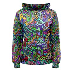 Colorful Abstract Paint Rainbow Women s Pullover Hoodie