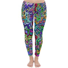 Colorful Abstract Paint Rainbow Classic Winter Leggings