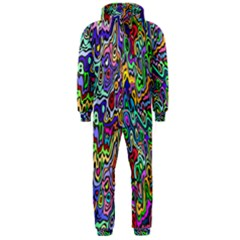 Colorful Abstract Paint Rainbow Hooded Jumpsuit (Men)