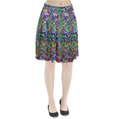 Colorful Abstract Paint Rainbow Pleated Skirt