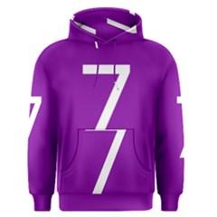 Number 7 Purple Men s Pullover Hoodie