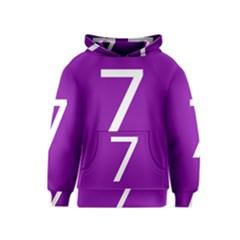 Number 7 Purple Kids  Pullover Hoodie