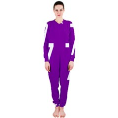 Number 7 Purple OnePiece Jumpsuit (Ladies)