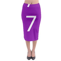 Number 7 Purple Midi Pencil Skirt