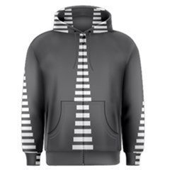 Minimalist Stairs White Grey Men s Zipper Hoodie
