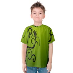 Illustration Wallpaper Barbusak Leaf Green Kids  Cotton Tee