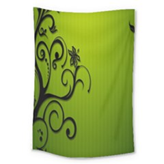 Illustration Wallpaper Barbusak Leaf Green Large Tapestry